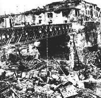 ponte romano bombardato